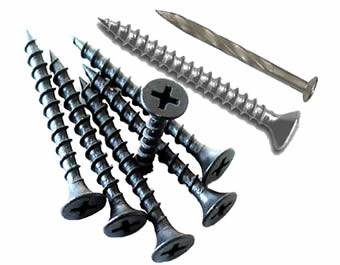 Screw Nails Made From Galvanized Low Carbon Steel Or Alloy