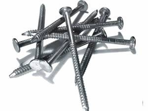 Siding Nails with Extra Holding Power Used in Construction Work
